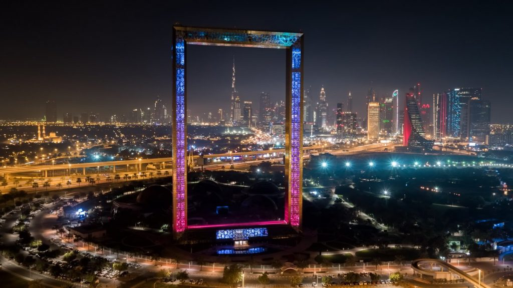 Dubai Frame and Zabeel Park